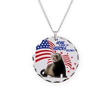 USA Patriotic ferret Necklace