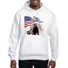 USA Patriotic ferret Hoodie