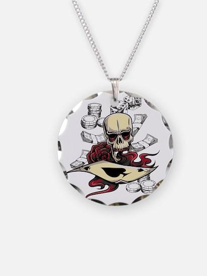 Gambling Skull Necklace