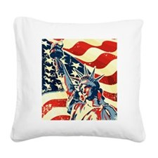 Happy Independence Day Square Canvas Pillow