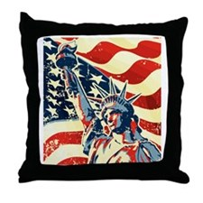 Happy Independence Day Throw Pillow