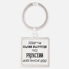 FORGET GLASS SLIPPER/WEARS RUNNING Square Keychain
