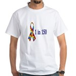 1 in 150 White T-Shirt