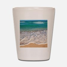 Tropical Beach Shot Glass