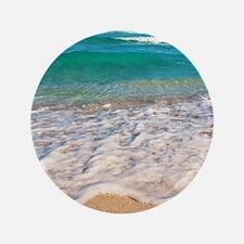 """Tropical Beach 3.5"""" Button"""