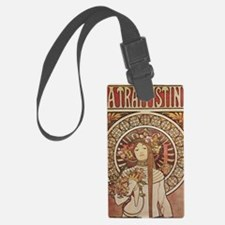 Vintage Art Nouveau Alfonse Much Luggage Tag