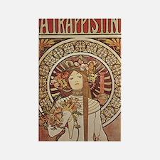Vintage Art Nouveau Alfonse Mucha Rectangle Magnet