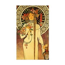 Vintage Art Nouveau Mucha Trap Decal