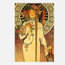 Vintage Art Nouveau Mucha Postcards (Package of 8)
