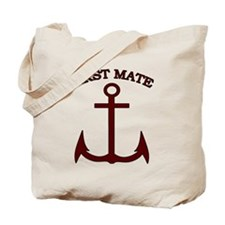 First Mate Boating Anchor Maroon Tote Bag