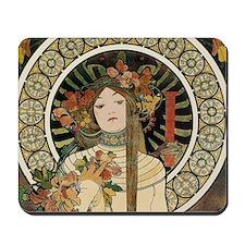 Vintage Art Nouveau Alfonse Mucha a Trap Mousepad