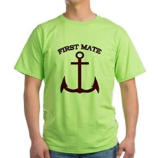 First Mate Boating Anchor Maroon T-Shirt