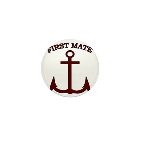 First Mate Boating Anchor Maroon Mini Button