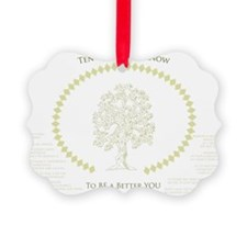 Ten Meaningful Things to Know Ornament