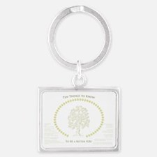 Ten Meaningful Things to Know Landscape Keychain