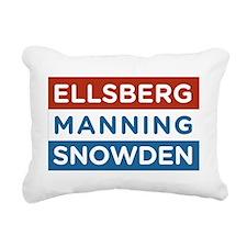 Ellsberg Manning Snowden Rectangular Canvas Pillow