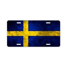 Swedihs Flag Aluminum License Plate