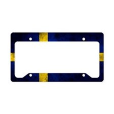Swedihs Flag License Plate Holder