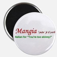 """Mangia Italian 2.25"""" Magnet (10 pack)"""