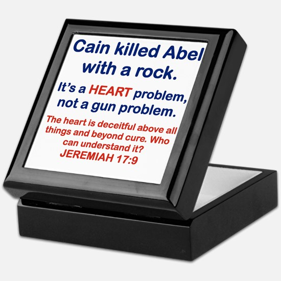 CAIN KILLED ABEL WITH A ROCK Keepsake Box