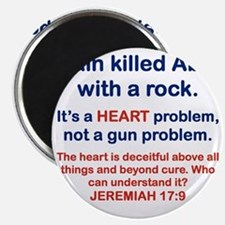 CAIN KILLED ABEL WITH A ROCK Magnet