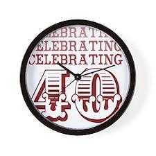 Celebrating 40! (Birthday Party) Wall Clock