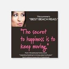 "Best Beach read Square Sticker 3"" x 3"""