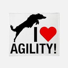 I love Agility Border Collie Throw Blanket