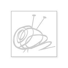 "Yarn Ball cropped washout f Square Sticker 3"" x 3"""