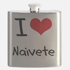 I Love Naivete Flask