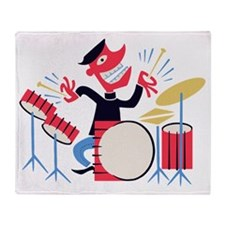 drum-beatnik-T Throw Blanket
