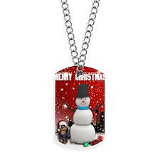 English Toy Spaniel Christmas Dog Tags