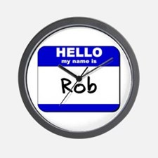 hello my name is rob  Wall Clock