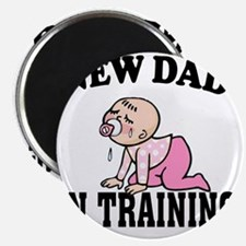 New Dad In Training (Girl) Magnet