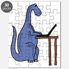 Dinosaur Using Laptop Puzzle