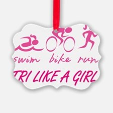 TRI LIKE A GIRL Ornament