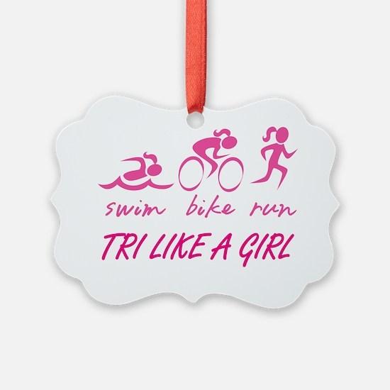 TRI LIKE A GIRL Ornament