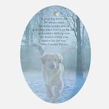 pet loss sympathy card Oval Ornament