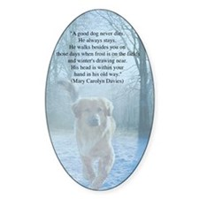 pet loss sympathy card Decal