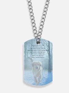 pet loss sympathy card Dog Tags