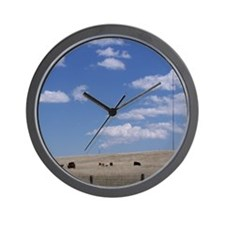 Fields of Grazing Wall Clock