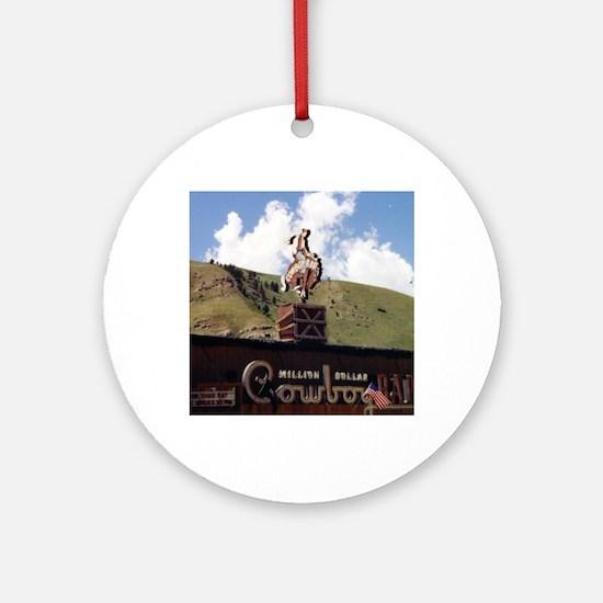 Million Dollar Cowboy Bar Round Ornament