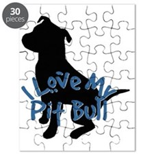 I Love My Pit Bull Puzzle