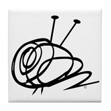 Yarn Ball Cropped Official Tile Coaster