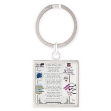 Police Officer Wife Square Keychain