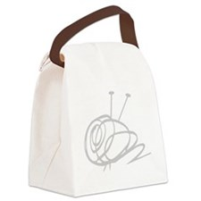 Yarn Ball Cropped washout Officia Canvas Lunch Bag