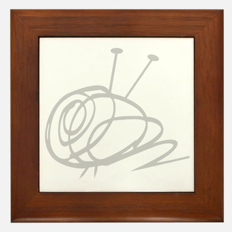Yarn Ball Cropped washout Official Framed Tile