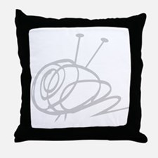 Yarn Ball Cropped washout Official Throw Pillow