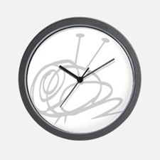 Yarn Ball Cropped washout Official Wall Clock