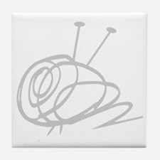 Yarn Ball Cropped washout Official Tile Coaster